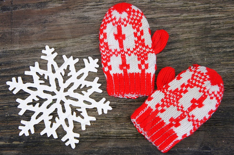 Winter mittens. photo