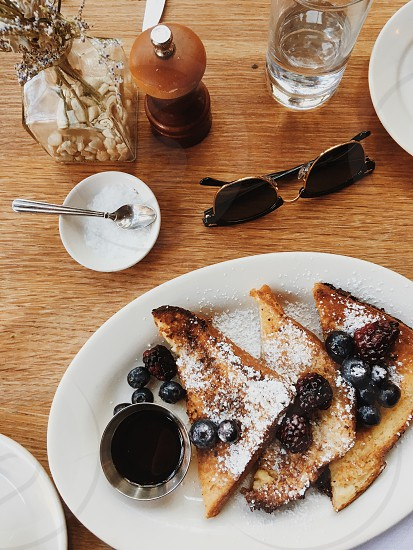 coffee brunch millennials eating with friends. photo