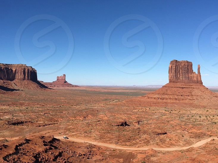 The essence of Utah's National Monument Valley. photo