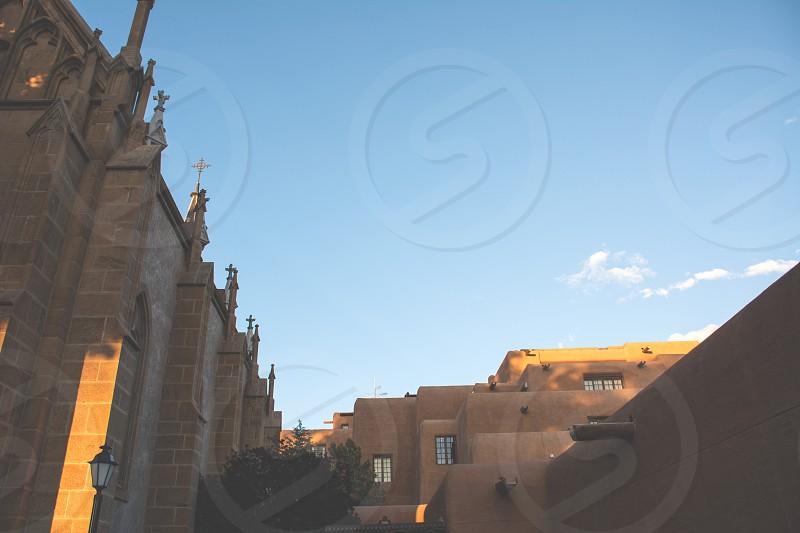 Santa Fe; New Mexico; light; buildings; history  photo