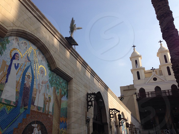The hanging church in old cairo Egypt photo