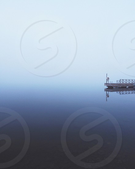 #nature #minimal #minimalistic #simplicity #fog #foggy #dock #water #reflection  photo