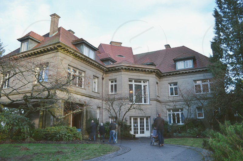 Pittock Mansion Portland Oregon entrance Forest Park photo
