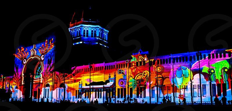 Royal Exhibition Building Melbourne. White Night Festival photo
