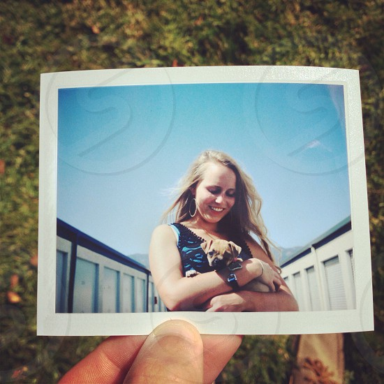 Print polaroid photo puppy photo