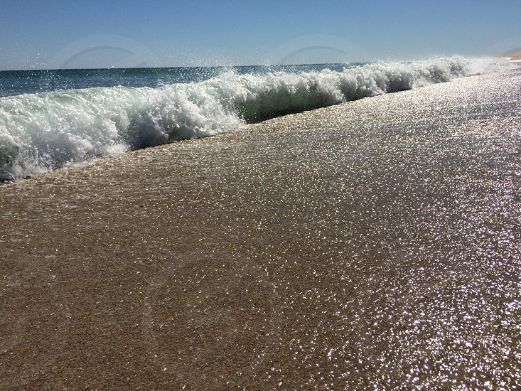 Beach waves relax vacation photo