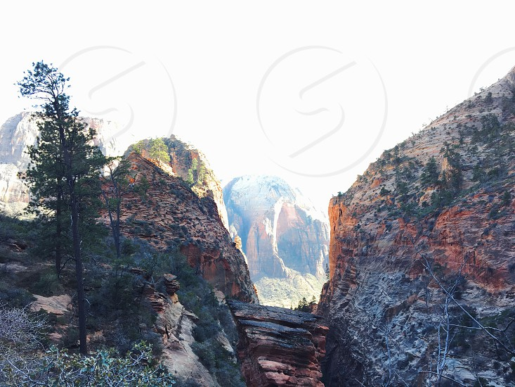 Zion National Park Travel Road Trip Mountains Angels Landing Hike photo