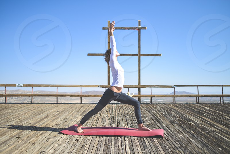 yoga yogi exercise creativity outdoors pose photo
