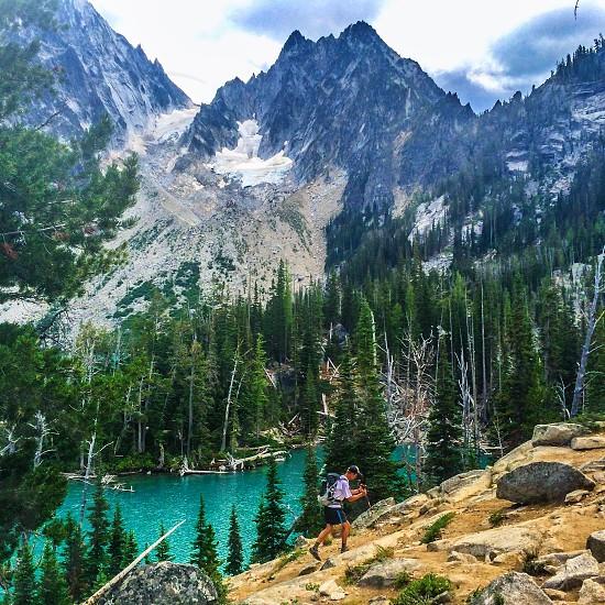 Alpine lake photo