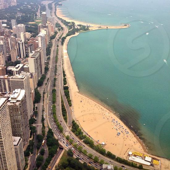 Lake Shore Drive & Oak Street Beach - Chicago photo