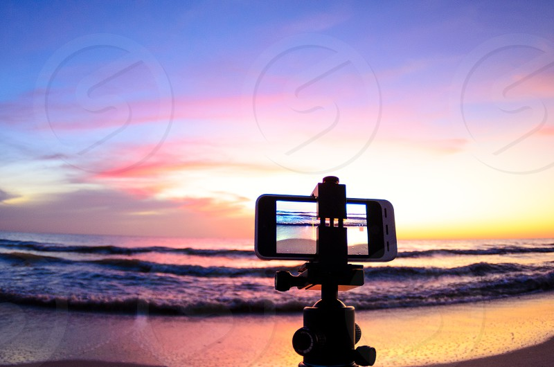 Time lapse photography of the beach using an iphone. photo