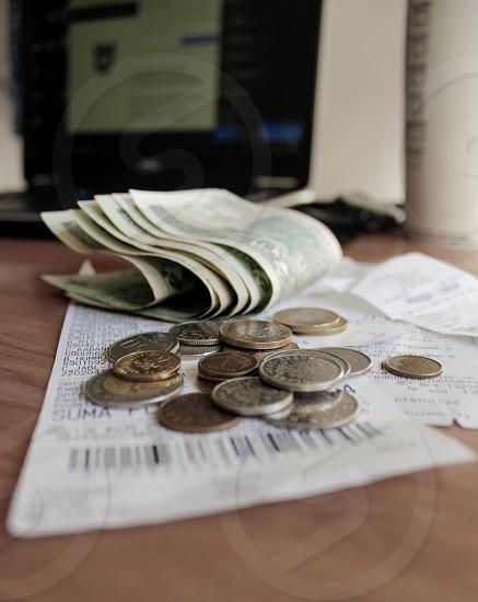 Finance money recipes cash laptop banking photo