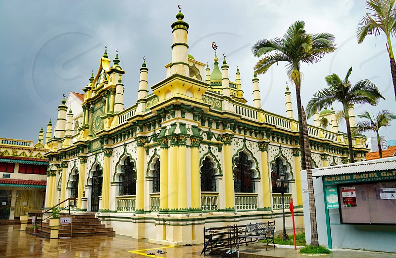 The Masjid Abdul Gaffoor mosque in Singapore photo