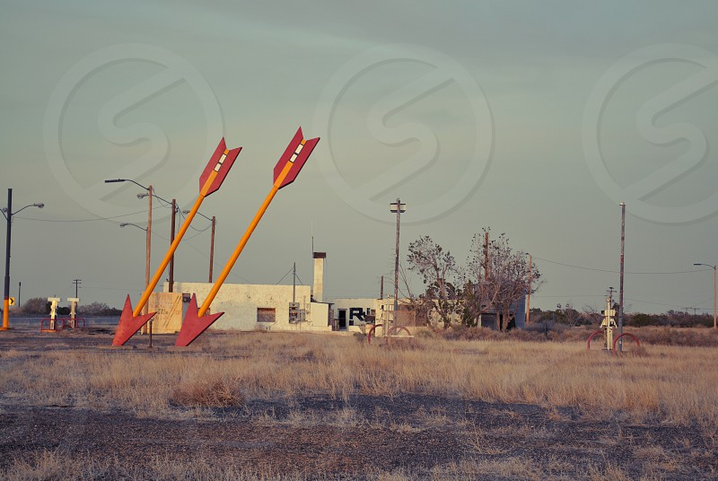 Twin Arrows Arizona Abandoned Gas Station Route 66 Roadside Attraction photo