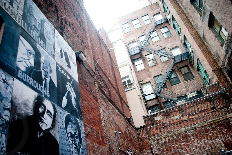 brick building with mural photo