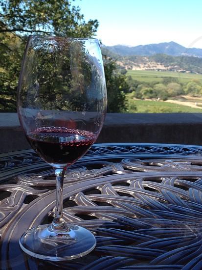 View from silverado winery patio in napa photo
