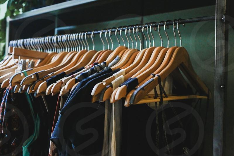 clothing rack photo
