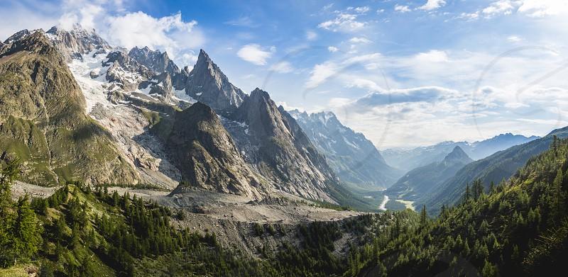 Alpine mountain range. photo