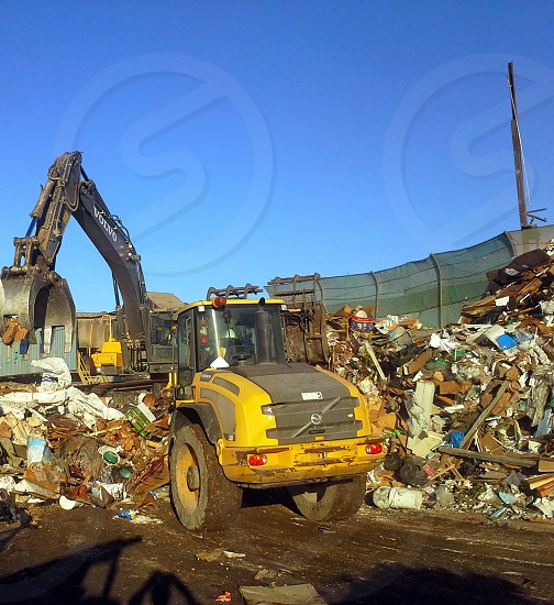 tractor at dump photo