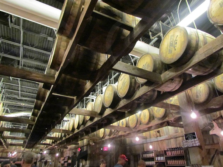 brown wooden barrels photo