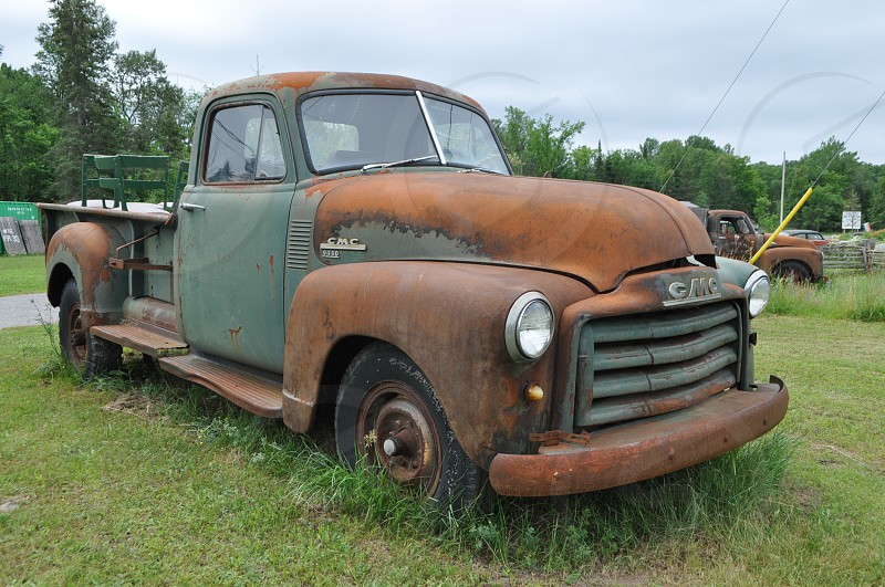 Rusty Chevy truck pic south of Bancroft Ontario photo