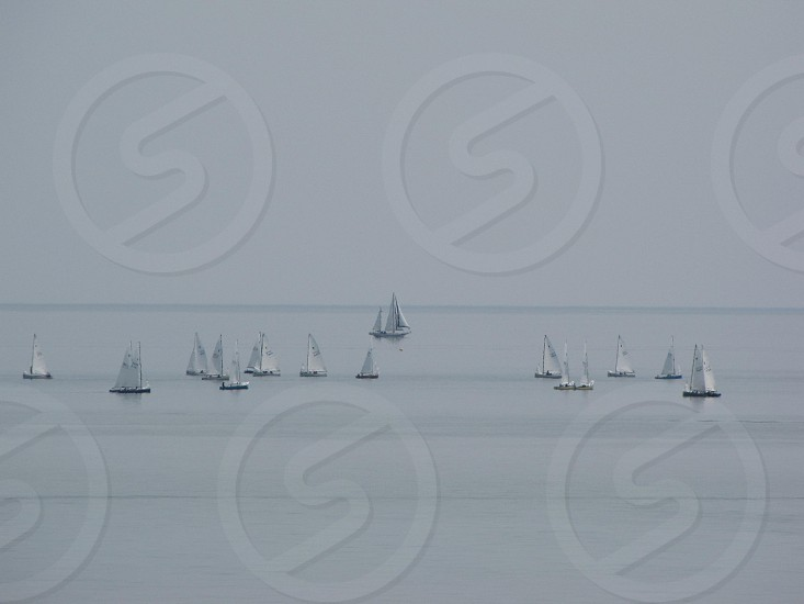 Sailboats on Lake Michigan 2 photo