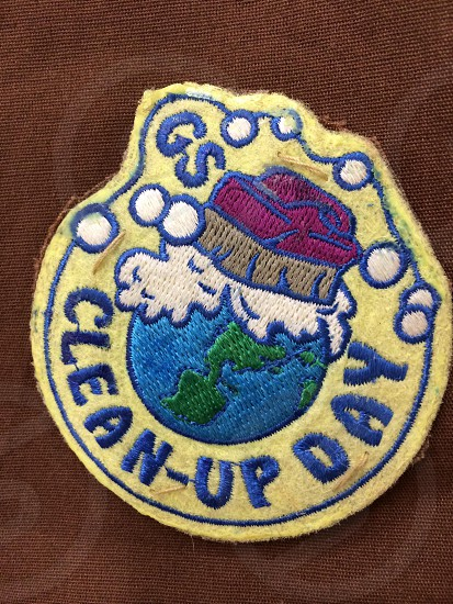 gs clean up day patch on textile photo