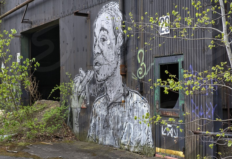 Abandoned Building with graffiti photo