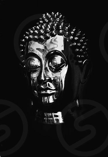 silver buddha head photo