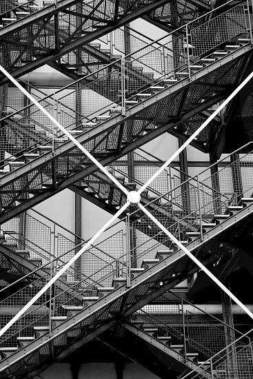grey staircase photo