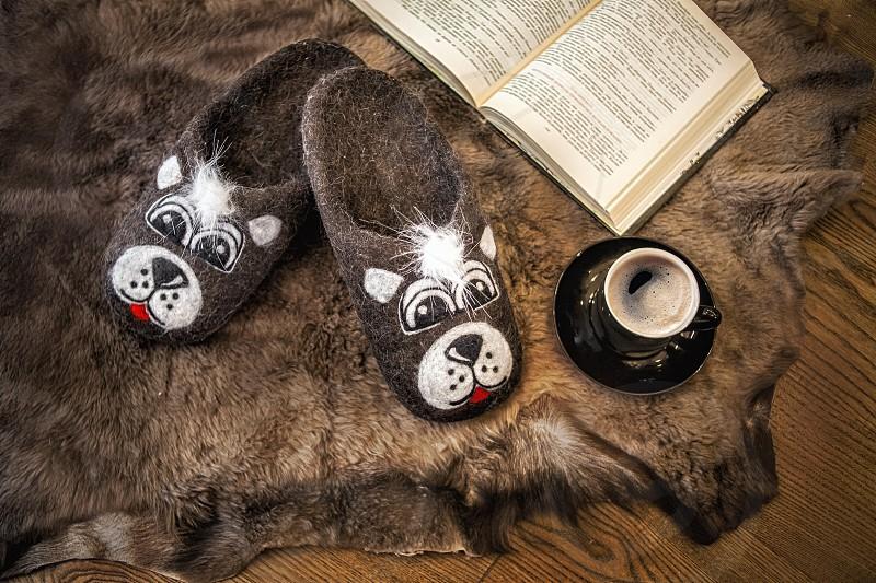 Coffee book carpet fur homeveranda story sleepers wool hot drink evening photo