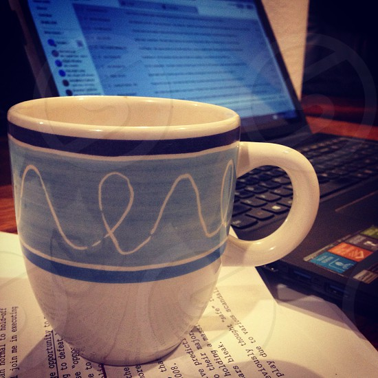 Coffee cup working. photo