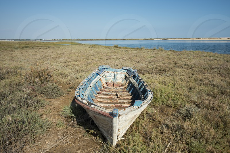 the landscape and nature of the Ria Formosa near the Town of Tavira at the east Algarve in the south of Portugal in Europe. photo