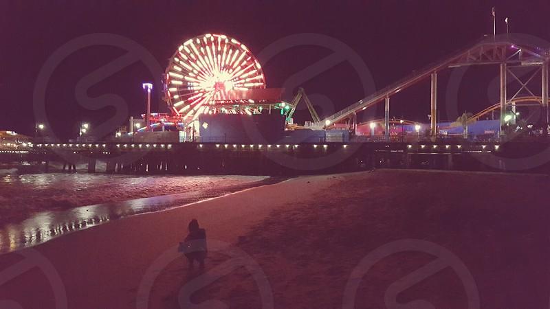 San Monica Pier CA. photo