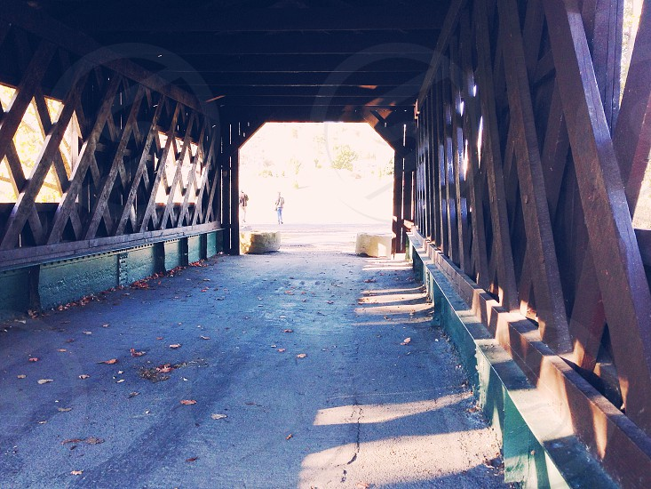 Kissing Bridge Ticonderoga NY. photo