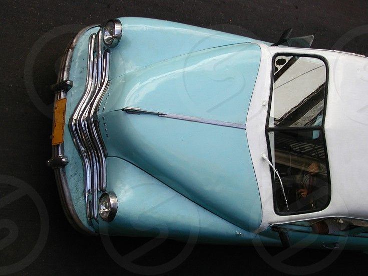 Cuban Car from above. Car from the 1950's photo