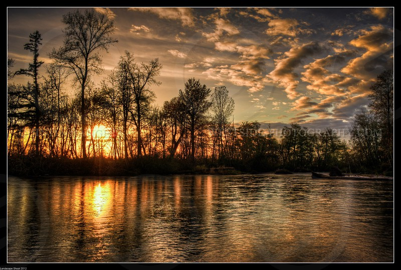 Sunset over the river. landscapesunset photo