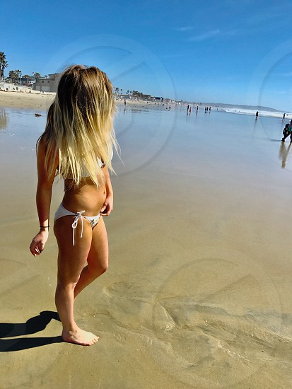 bikini blonde contest string