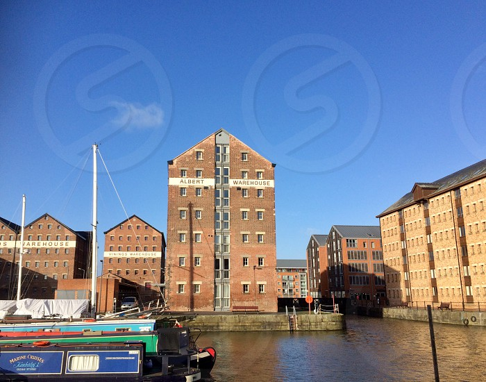Gloucester water Docks building architecture boat warehouse photo