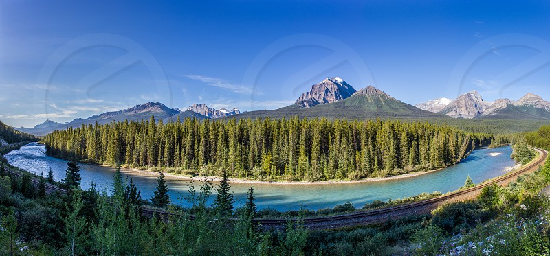 The Bow River in Banff National Park Alberta. photo
