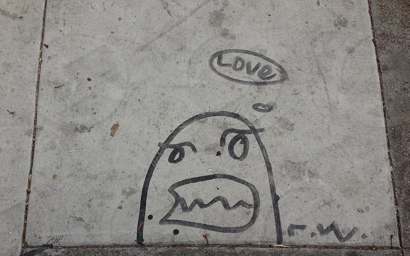 Sidewalk art in Oakland CA photo