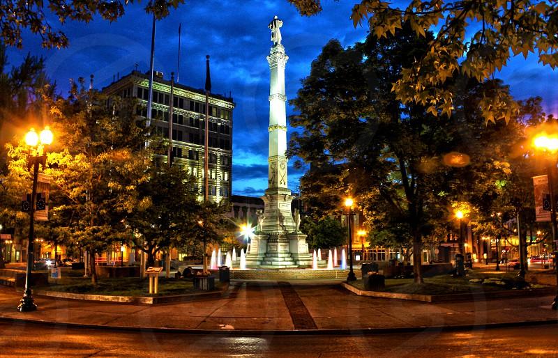 Monument at night. photo