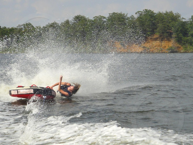 That moment when...you fall off the tube!  photo