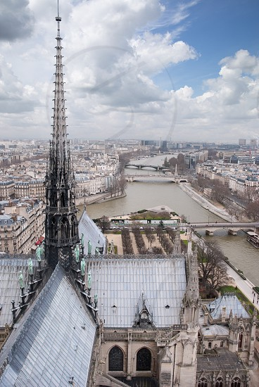 View on Paris from Notre Dame France photo
