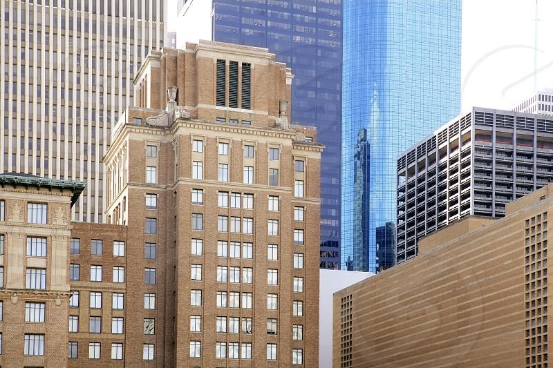 Downtown Houston Texas buildings urban city skyscrapers photo