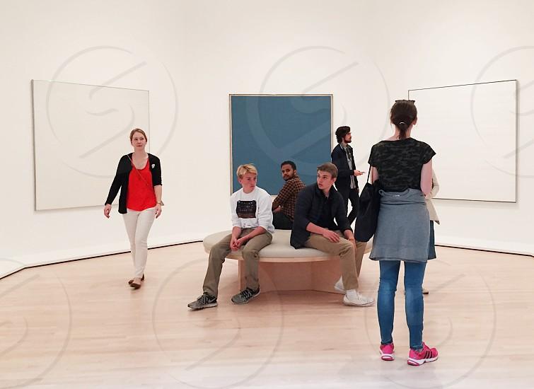 People in art gallery  photo