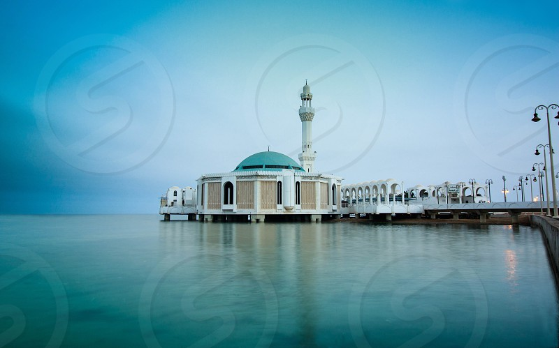 Floating is a modern mosque built on the edge of the beach Corniche Jeddah in Saudi Mosque and called officially Rahma Mosque name. This mosque is the most mosques in Jeddah visit especially among Muslims in the East Asian pilgrims. photo