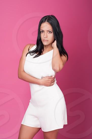 Beautiful white dress  photo