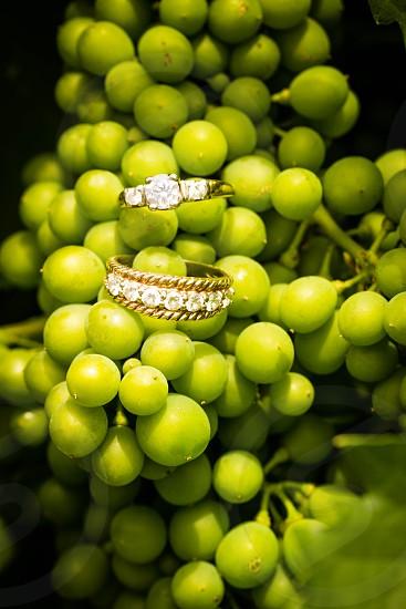 wedding rings grapes photo