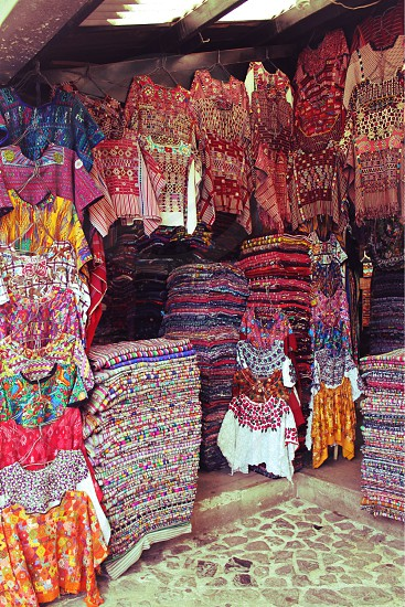 Guatemala textiles shop photo